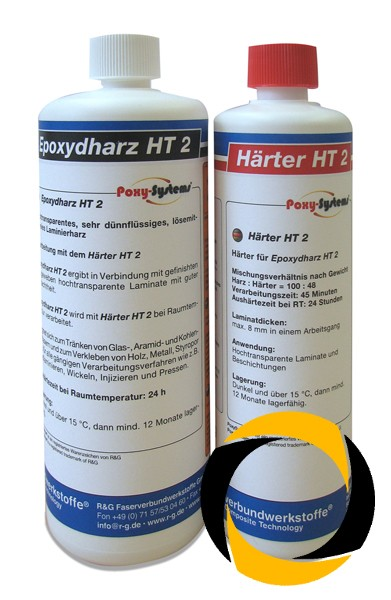 Epoxydharz HT 2 + Härter HT 2 (60 Min)